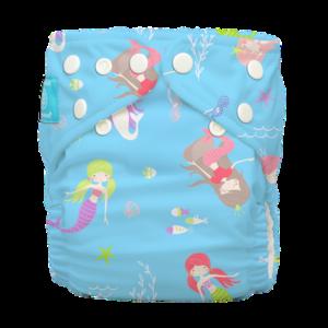 Charlie Banana egyméretes zsebes pelenka 2 betéttel - Mermaid TIFFANY