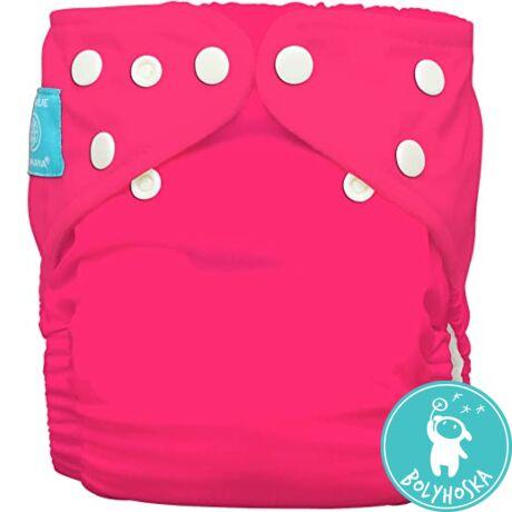 Charlie Banana egyméretes zsebes pelenka 2 betéttel - Neon rózsaszín