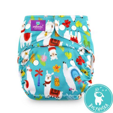 Milovia Fluffy alpaca Coolmax egyméretes zsebes mosható pelenka (4-16kg)
