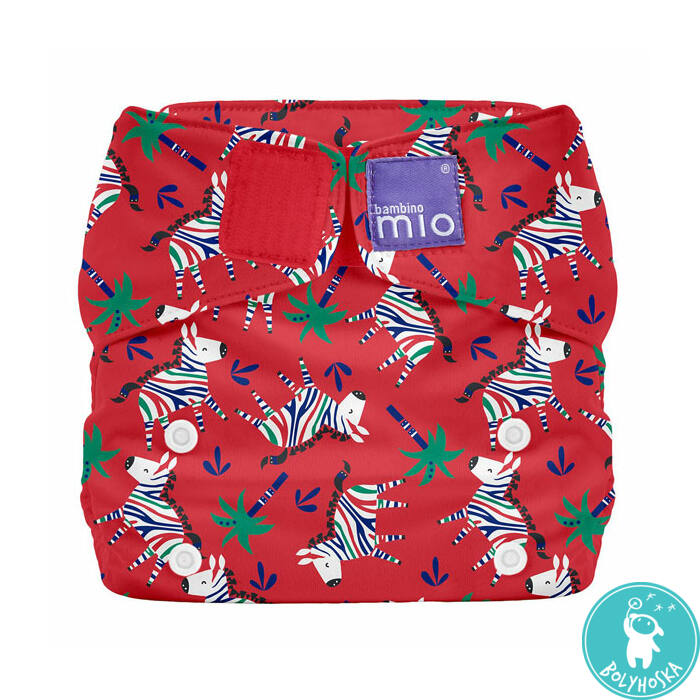 Bambino Mio MioSolo All-In-One ZEBRA DAZZLE egyméretes mosható pelenka