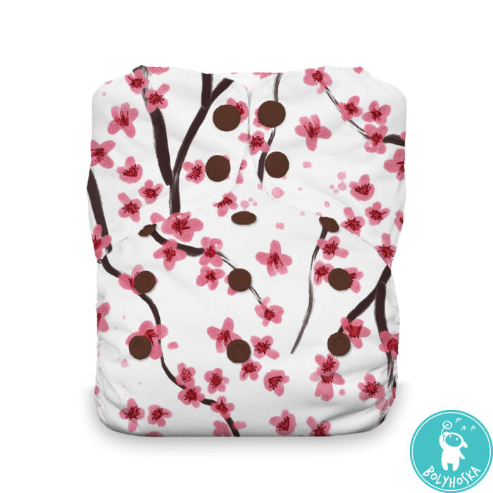 Thirsties All-in-one NATURAL egyméretes mosható pelenka (4-18kg) Sakura patentos
